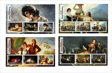 2017 FRANCISCO GOYA  ART PAINTINGS  8 SOUVENIR SHEETS MNH UNPERFORATED