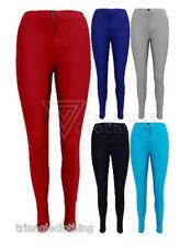 Slim, Skinny, Treggings Mid Stretch Trousers for Women