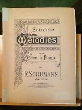 Robert Schumann recueil 60 mélodies chant piano français allemand Choudens