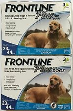 FRONTLINE Plus for Dogs Flea and Tick Medicine MEDIUM Blue Box 6 Month Supply US