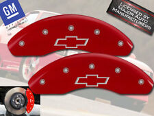 1985-2002 Chevy Astro Front Red MGP Brake Disc Caliper Covers w/ Bowtie 2pc