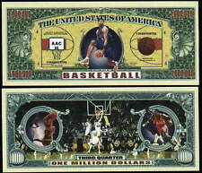 BASKETBALL - BILLET 1 MILLION DOLLAR US ! BASKET Collection Sport Ballon Panier
