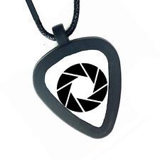 Portal 2 Aperture Laboratories Pickbandz Mens Womens Real Guitar Pick Necklace