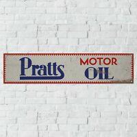 PRATT/'S MOTOR SPIRIT OIL CAR MECHANIC WORKSHOP GARAGE METAL SIGN TIN PLAQUE 1879