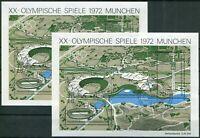 2 x Bund Block Nr. 7 gestempelt ESST München BRD Olympische Spiele BRD 1972 used