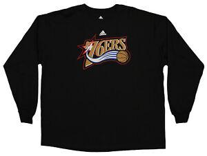 Adidas Philadelphia 76ers NBA Men's Long Sleeve Tee, Black