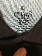 NWT School Uniform Navy Polo Chaps Shirt Boys Size XSmall 6/7 Retail $20