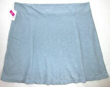 FRESH PRODUCE 3X Misty Blue MARINA Stretchy Slub Cotton A Line Skirt NWT New 3X