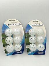 2 confezioni flusso d'aria Golf Practice Balls Palline (12) Bianco