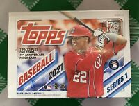 2021 Topps Series 1 Blaster Box  Factory Sealed - 7 packs + Patch **Free Ship!!!