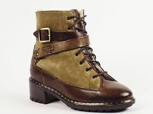UGG Collection Sassari Suede Leather Combat Boots in US Sizes 5 & 6 M $695