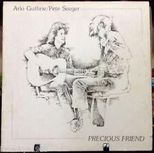 ARLO GUTHRIE/PETE SEEGER  'Precious Friend Released 1982' VINYL ALBUM US pressed