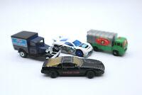 Vtg Lot of 4 Diecast Cars Majorette Knight 2000 Hot Wheels Matchbox Star Wars