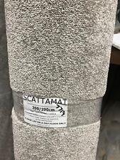 Extra large silver grey heavy luxury soft shag pile felt back rug / carpet new