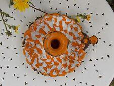 ANCIEN BOUGEOIR EMAILLE marbré orange