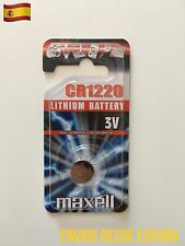 1 Pila MAXELL Blister CR1220 Lithium Battery Batería De Litio Original 3V