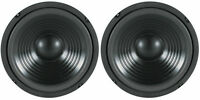 "NEW (2) 8"" Woofer Speakers.Replacement 8 ohm.Bass Woofer.Home Audio PAIR.8inch"