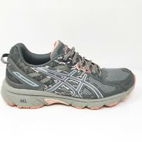 Asics Womens Gel Venture 6 T7G6N Grey Black Running Shoes Lace Up Low Top Size 9