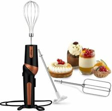 Electric Hand Mixer Handheld Egg Beater Immersion Blender Whisk Attachment Cook