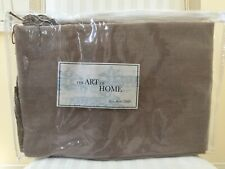 "Ann Gish Fringe Adult Throw Shawl Taupe Ivory Color 50""x70"" Home Blanket New"