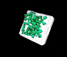 Amazing 6.90 Ct 50 Pcs Square Shape Natural Zambia Emerald Gemstone