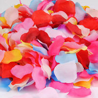 200/1000pcs Various Colors Silk Flower Rose Petals Wedding Party Decorations TO