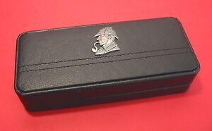 Sherlock Holmes Motif on Black Faux Leather Pen Box & Pens English Literary Gift