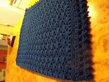 Handmade NEW Victorian Shells Crochet Afghan Peacock Blue Throw 54X68 inches