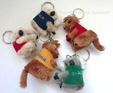 24x Australian Souvenir Kangaroo and Koala Keyring Clip-ons Key Ring