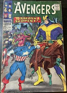 """Avengers #33 October 1966 Marvel """"To Smash A Serpent""""Don Heck Silver Age."""