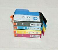 Lot of 4 HP 564 & 564xl Ink Cartridge Set Black, Yellow, Magenta, Cyan