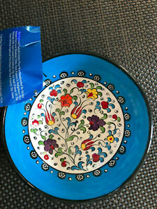 "Blue Floral Iznik 6"" Bowl from Mert Gift Shop, Grand Bazaar, Istanbul, Turkey"