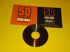 "CD SINGLE 2 TITRES PROMO 50 CENT FEAT AKON ""STILL WILL"""