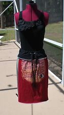 Florida State Seminoles Yoga Waist Bohemian Skirt Upcycled T-Shirts L/XL