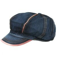 ASK07  New Denim Applejack Newsboy Cabbie 8 Panels Gatsby Golf Cap Driving Hat
