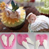 Baby Baking Tool Fondant Sugar 3D Cake Mold Angel Wings Silicone Mould