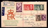 Australien 1954 Brief 100% gebraucht Argentinien, Königliche Familie