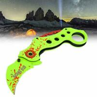 Outdoor Portable Foldable Knife Hunting Climbing Camping Survival Claw Karambit.
