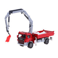 Alloy 1:50 Red Crane Car Model Truck Diecast Transport Vehicle Kids Toy Gift