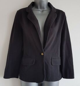 Size 12 Jacket Black Casual Material Fitted INTERNACIONALE Tailored Women's