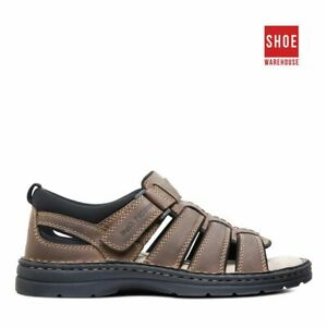 Hush Puppies SPARTAN Brown Mens Sport/Surf Casual Leather Sandals