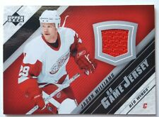 2005-06 Jason Williams UD Game Used Jersey Card Detroit Red Wings #J2-JW