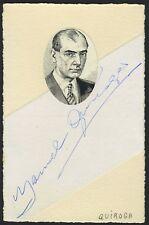 Manuel QUIROGA LOSADA (Violinist/Composer): Autograph Signature