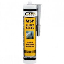 MSP M5 LIJM FLENZEN AFVOEREN SCHUIFAFSLUITERS PVC BUIZEN ZWARTE LIJM 290 ML