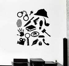 Wall Decal Detective Sleuth Intelligence Service Investigation Mural (ig2709)