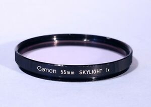 Canon 55mm Skylight 1x Filter * Excellent * Genuine Canon