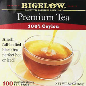 Bigelow 100 Count Premium Blend Black Tea, Contains 100 Individually Wrapped Tea