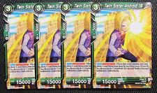 4x Twin Sister Andriod 18 BT2-091 Common Dragon Ball Super TCG NM