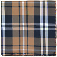 New Men/'s Polyester Woven pocket square hankie only orange tone on tone stripes