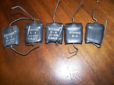5 x Fast Capacitor Military .01 @ 600 volts John E  small Flat  shape humbucker